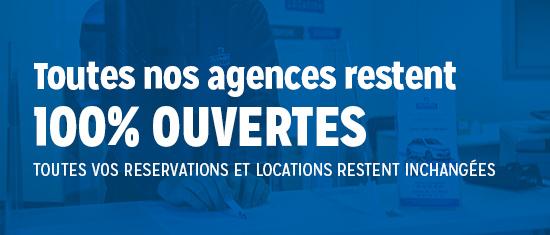 Toutes nos agences restent ouvertes
